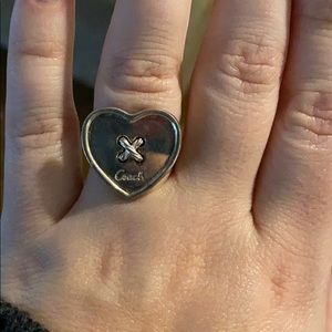 Coach large heart ring size 9
